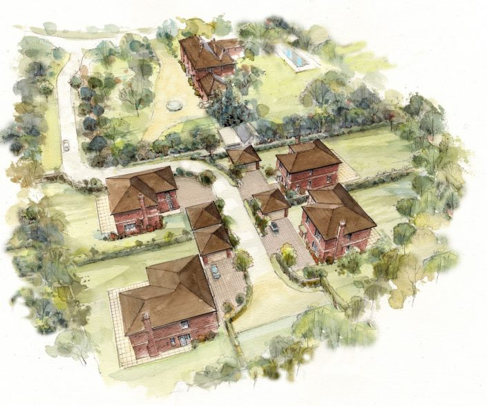 Planning Permission - Four New Dwellings